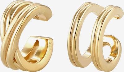 ELLI Ohrringe Earcuff, Kreuz in gold, Produktansicht