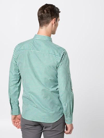 STOCKERPOINT Hemd 'Campos3' in dunkelgrün / weiß: Rückansicht