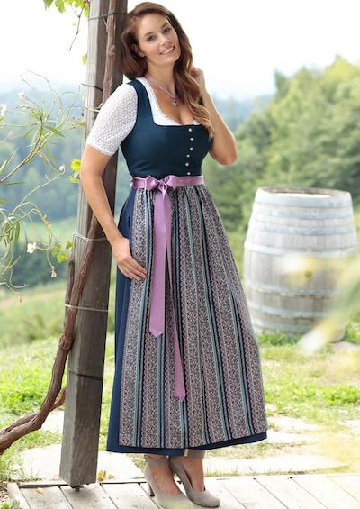 HANNAH Kleid in navy / rosa, Modelansicht