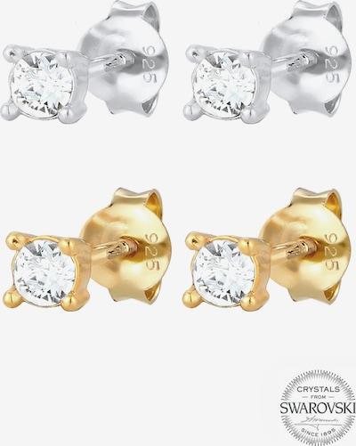 ELLI Ohrringe 'Kristall' in gold / silber, Produktansicht