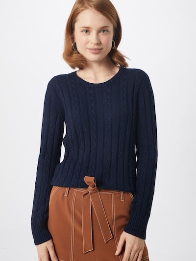 UNITED COLORS OF BENETTON Pullover 'SWEATER L/S' in navy, Modelansicht