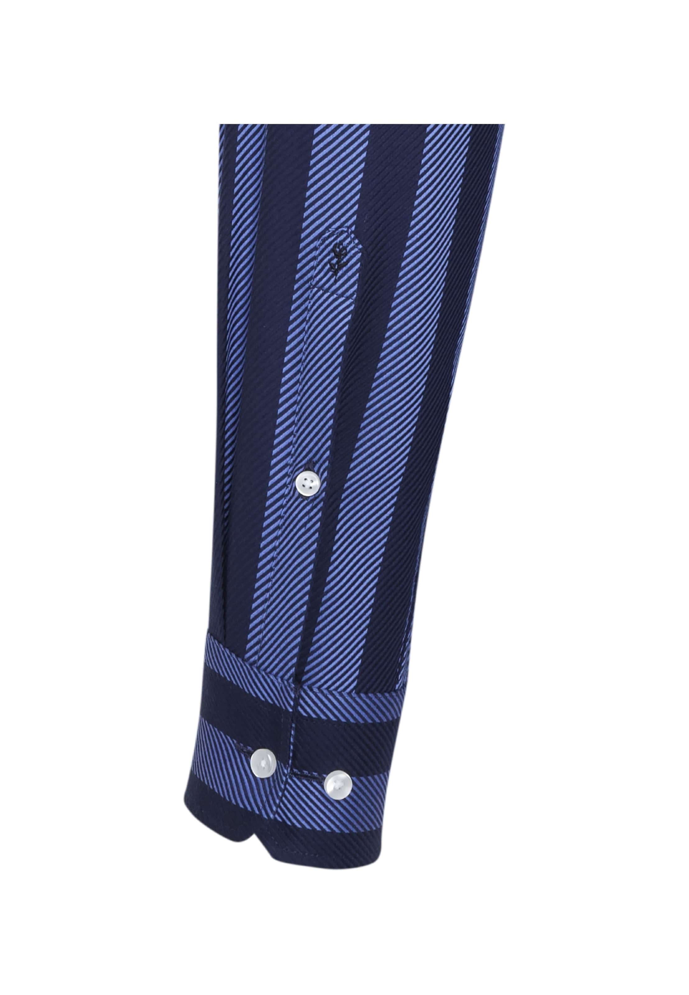 'modern' Royal Overhemd Zakelijk Nachtblauw koningsblauw In Blue Seidensticker q1Ew5XX