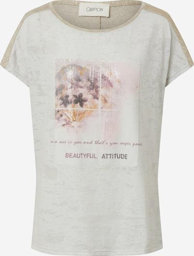 Cartoon T-shirt en beige / gris clair / rosé, Vue avec produit
