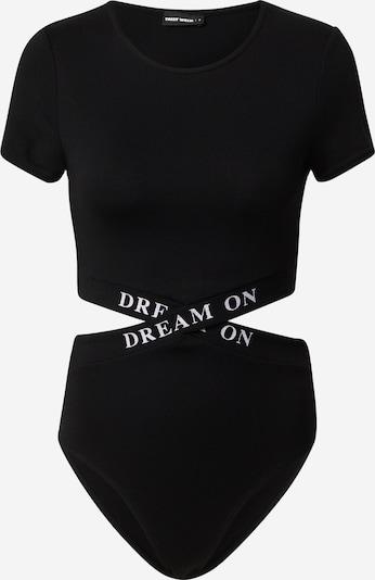 Tally Weijl Shirt body in de kleur Zwart / Wit, Productweergave