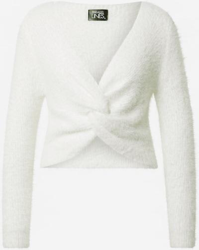 Parallel Lines Pullover in weiß, Produktansicht