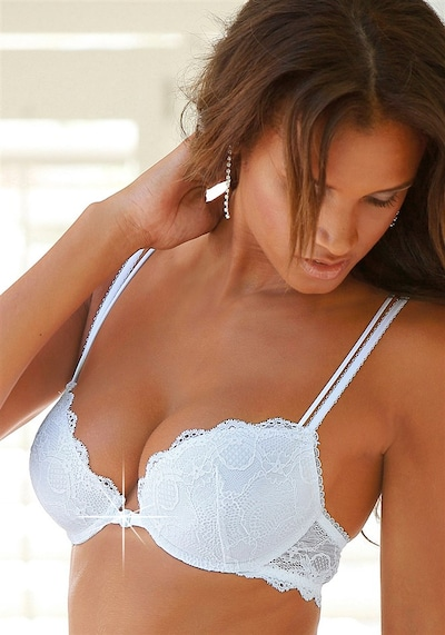 LASCANA LS pretty blue sporty BH in weiß, Modelansicht