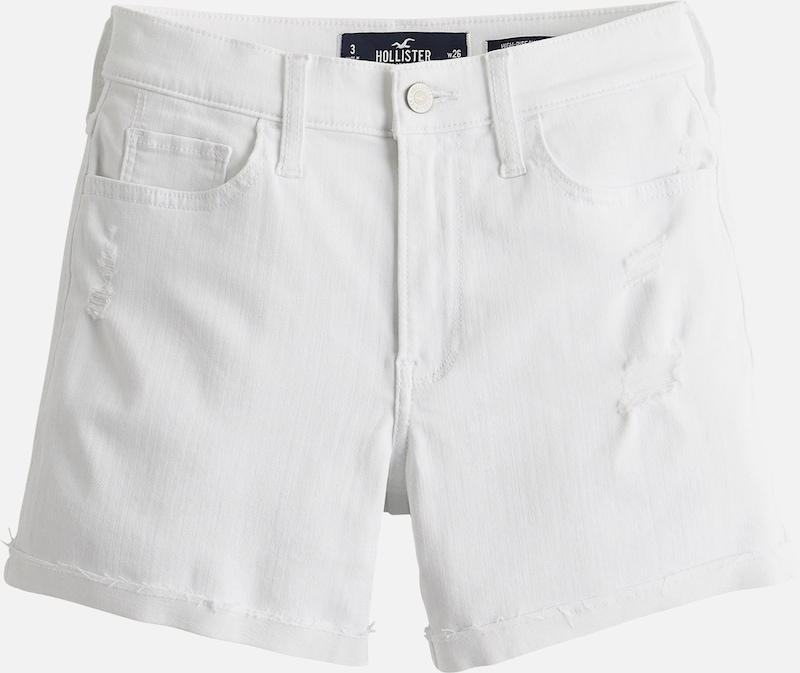 HOLLISTER Jeansshorts in white denim, Produktansicht