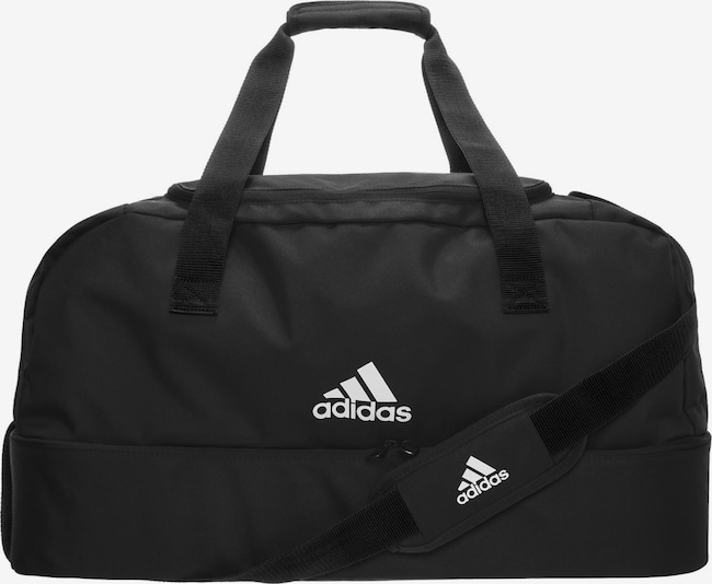 ADIDAS PERFORMANCE Fußballtasche 'Tiro Bottom Compartment Small' in schwarz / weiß, Produktansicht