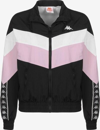 KAPPA Trainingsjacke ' Vaula W ' in rosa / schwarz / weiß, Produktansicht