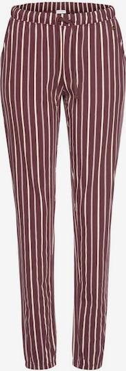 Pantaloni de pijama LASCANA pe bej / roșu bordeaux, Vizualizare produs