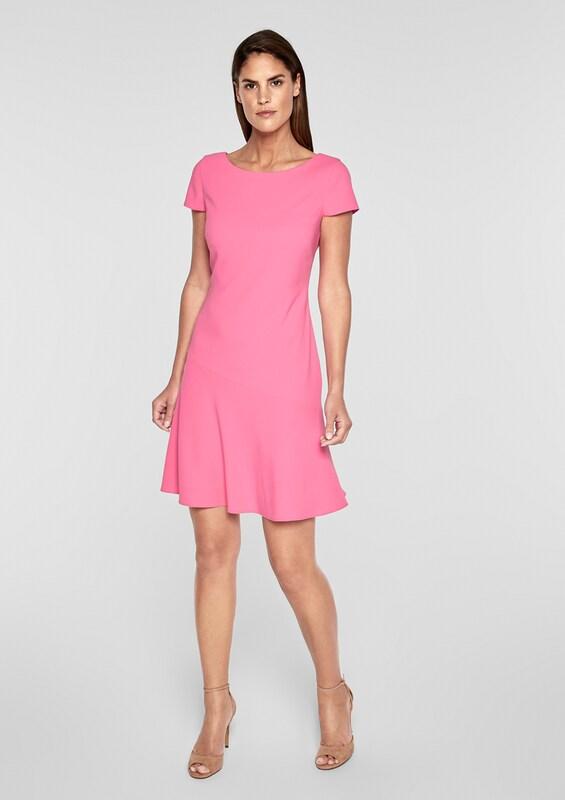 Black Crêpe oliver In kleid S Label Shape Modischer Pink 5Bqd1