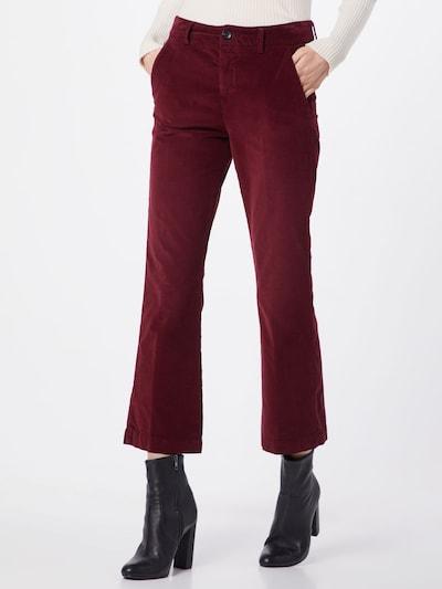 Herrlicher Broek 'Minx Velvet Stretch' in de kleur Rood, Modelweergave