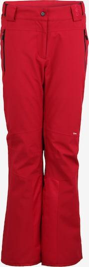 CMP Pantalon de sport en rouge / noir, Vue avec produit