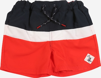 NAME IT Badeshorts in blau / rot / weiß, Produktansicht