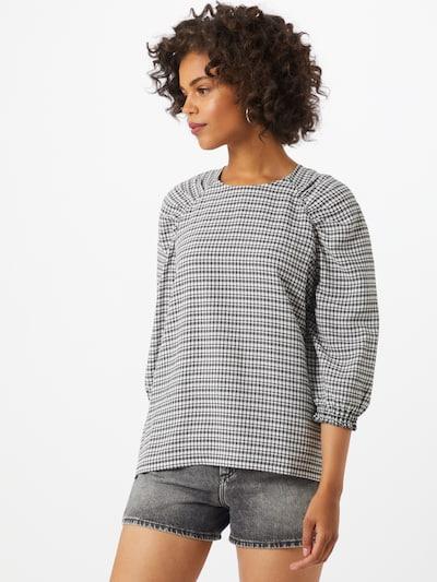 Soft Rebels Bluse 'Mate' in schwarz / weiß, Modelansicht