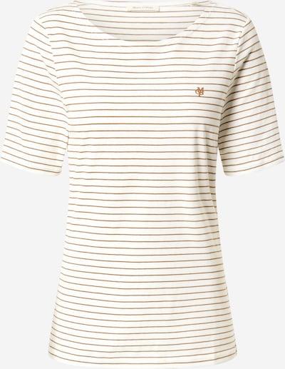 Marc O'Polo T-Shirt in dunkelbraun / weiß, Produktansicht