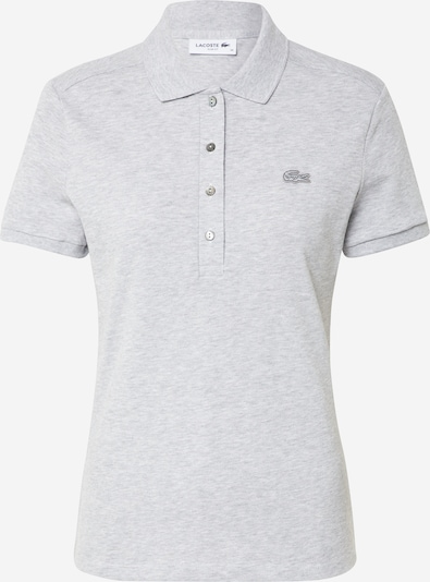 LACOSTE Shirt 'CHEMISE COL BORD-COTES MA' in de kleur Zilvergrijs / Donkergrijs, Productweergave