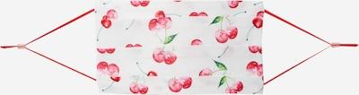 CODELLO Masque en tissu 'CHERRIES' en vert / rouge / blanc, Vue avec produit