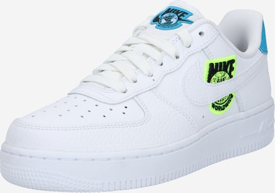 Sneaker low 'Air Force 1 '07 SE' Nike Sportswear pe albastru / galben neon / alb, Vizualizare produs