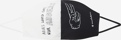 Mască de stofă 'ALLESWIRDGUT' recolution pe negru / alb, Vizualizare produs