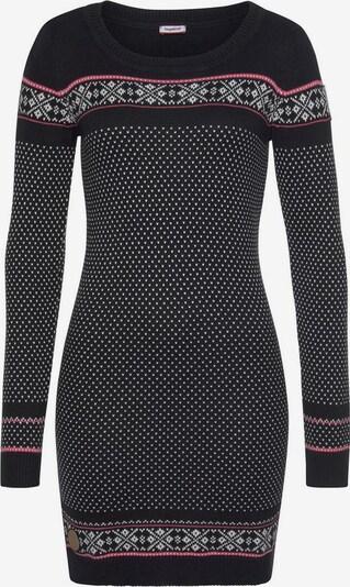 KangaROOS Strickkleid in schwarz / weiß, Produktansicht