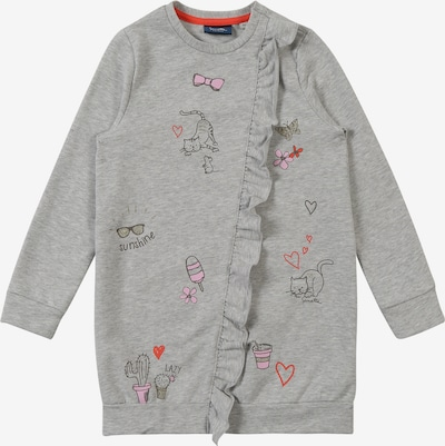 Sanetta Kidswear Jurk 'Dress' in de kleur Grijs gemêleerd, Productweergave