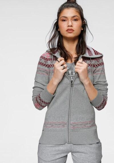 KangaROOS Strickjacke in grau / pink, Modelansicht
