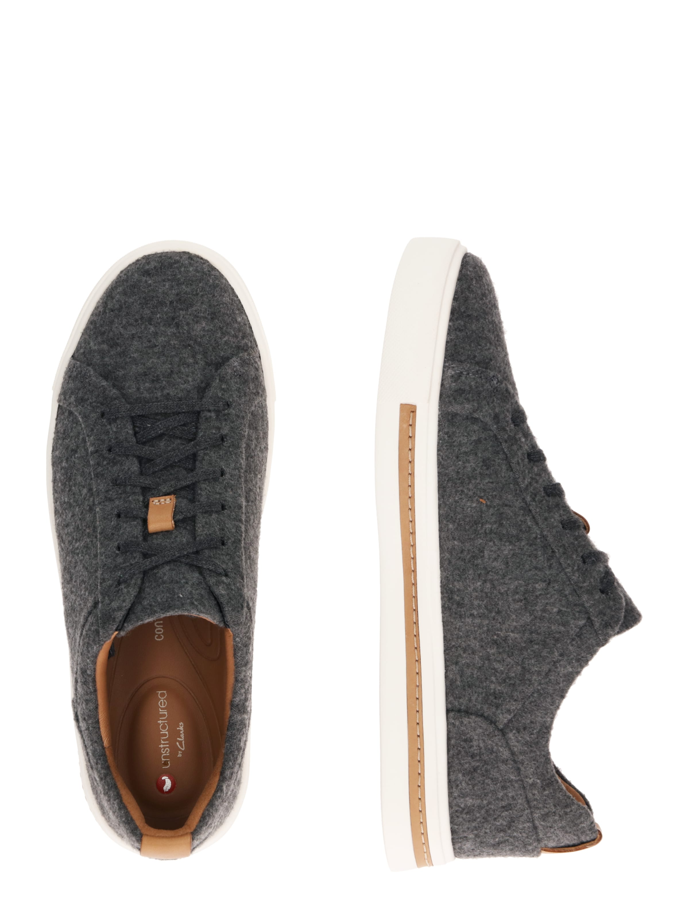 Sneaker Clarks Lace' Maui 'un Weiß In GrauRot fg7yb6