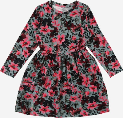 NAME IT Kleid 'NANU' in grasgrün / pink, Produktansicht