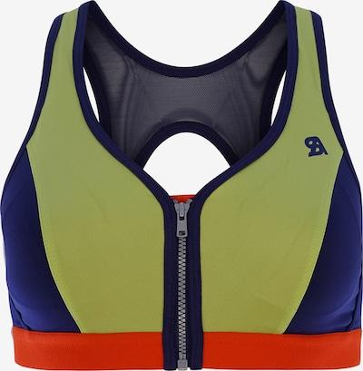SHOCK ABSORBER Sport-BH ' Front Zip ' in blau / grün / rot, Produktansicht