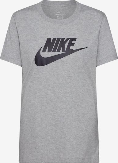 Nike Sportswear Shirt 'Futura' in graumeliert / schwarz, Produktansicht