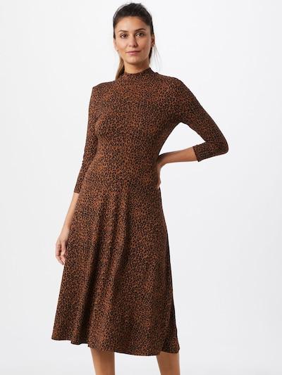 SET Kleid in braun / schwarz: Frontalansicht