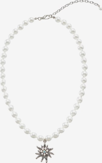 Lusana Kette in silber / weiß, Produktansicht