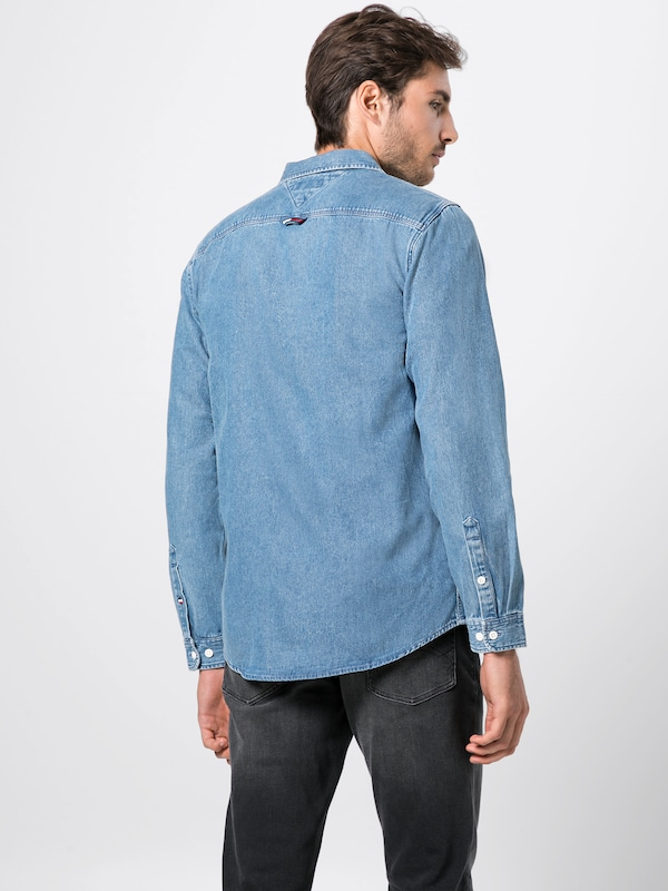 Denim En Jeans Shirt' Tommy Clean Bleu Chemise 'tjm PXOTikZu