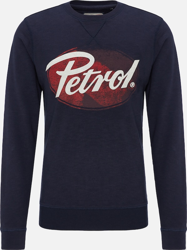 Petrol Industries Sweater in blau   rot   weiß  Freizeit, schlank, schlank