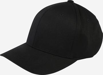 Șapcă 'Wooly Combed' de la Flexfit pe negru