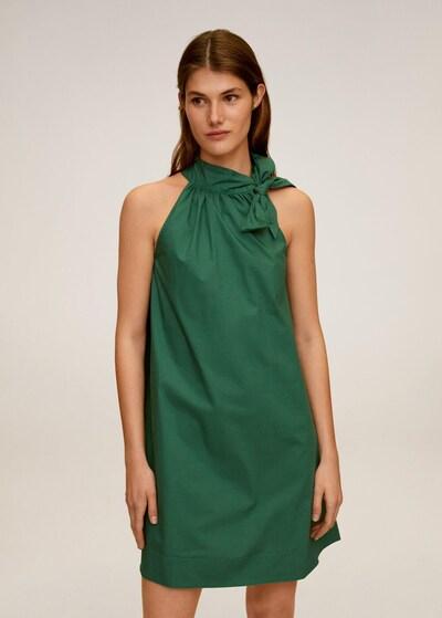 MANGO Kleid in dunkelgrün, Modelansicht