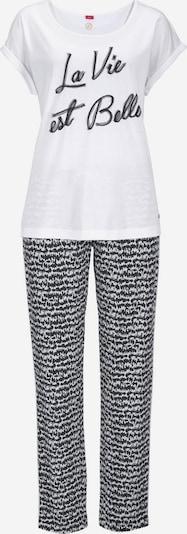 s.Oliver Pyjama in schwarz / weiß, Produktansicht