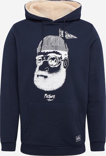 Picture Organic Clothing Sportovní mikina 'PINECLIFF' - tmavě modrá / bílá, Produkt