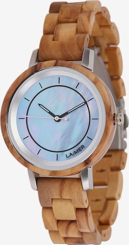 LAiMER Analog Watch in Brown