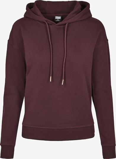 Urban Classics Curvy Sweatshirt in weinrot, Produktansicht