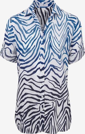 Peter Hahn Blouse 'Bluse mit 3/4 Arm' in de kleur Blauw / Wit, Productweergave