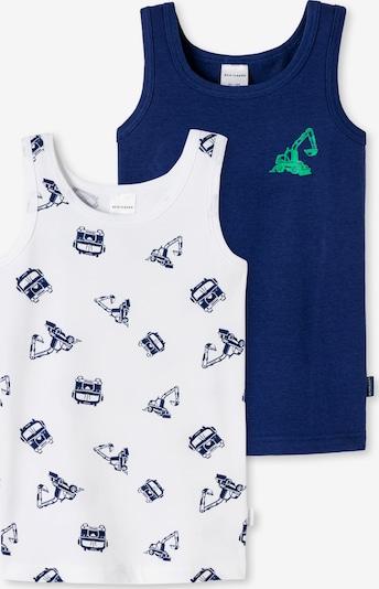 SCHIESSER Unterhemd in nachtblau / neongrün / weiß, Produktansicht