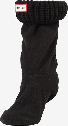 HUNTER Stiefelsocke 'HALF CARDIGAN' in schwarz, Produktansicht