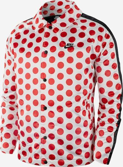 Nike Sportswear Veste mi-saison en rouge / blanc, Vue avec produit