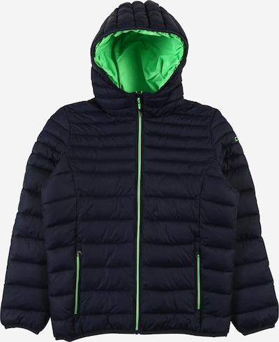 CMP Sportjacke in nachtblau / neongrün, Produktansicht