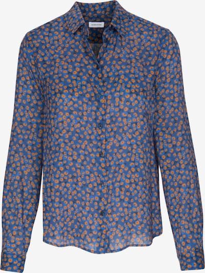 SEIDENSTICKER Bluse in blau / navy / dunkelblau / dunkelorange, Produktansicht