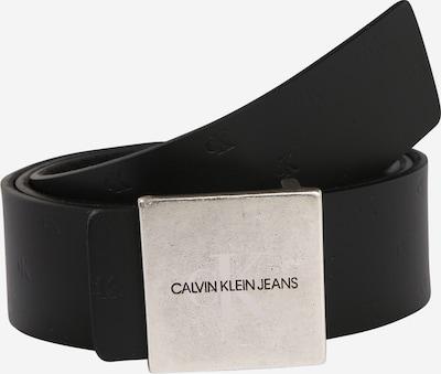 Calvin Klein Jeans Riem 'UNIFORM SQ PLAQUE REV 38MM' in de kleur Zwart / Zilver, Productweergave
