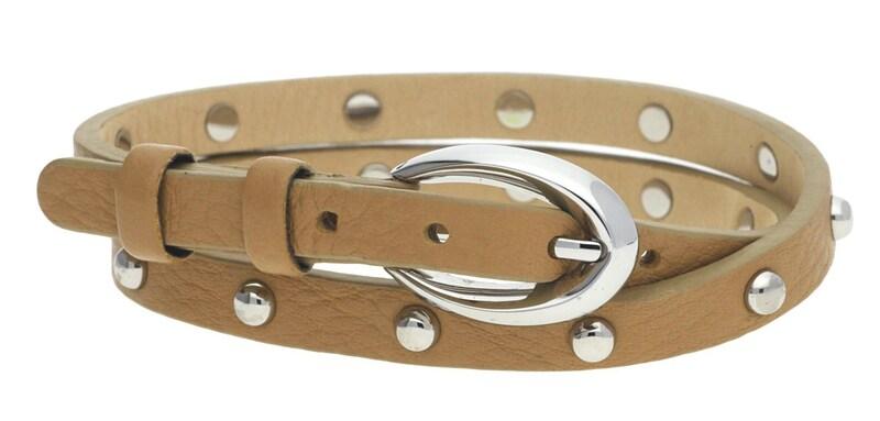 ESPRIT Armband in trendigem Design 'Rock Rio Caramel Brown mit Nieten-Besatz ESBR11335A380'