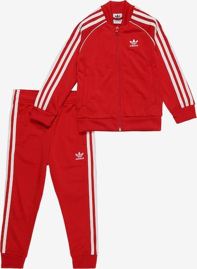 ADIDAS ORIGINALS Anzug in rot / weiß, Produktansicht